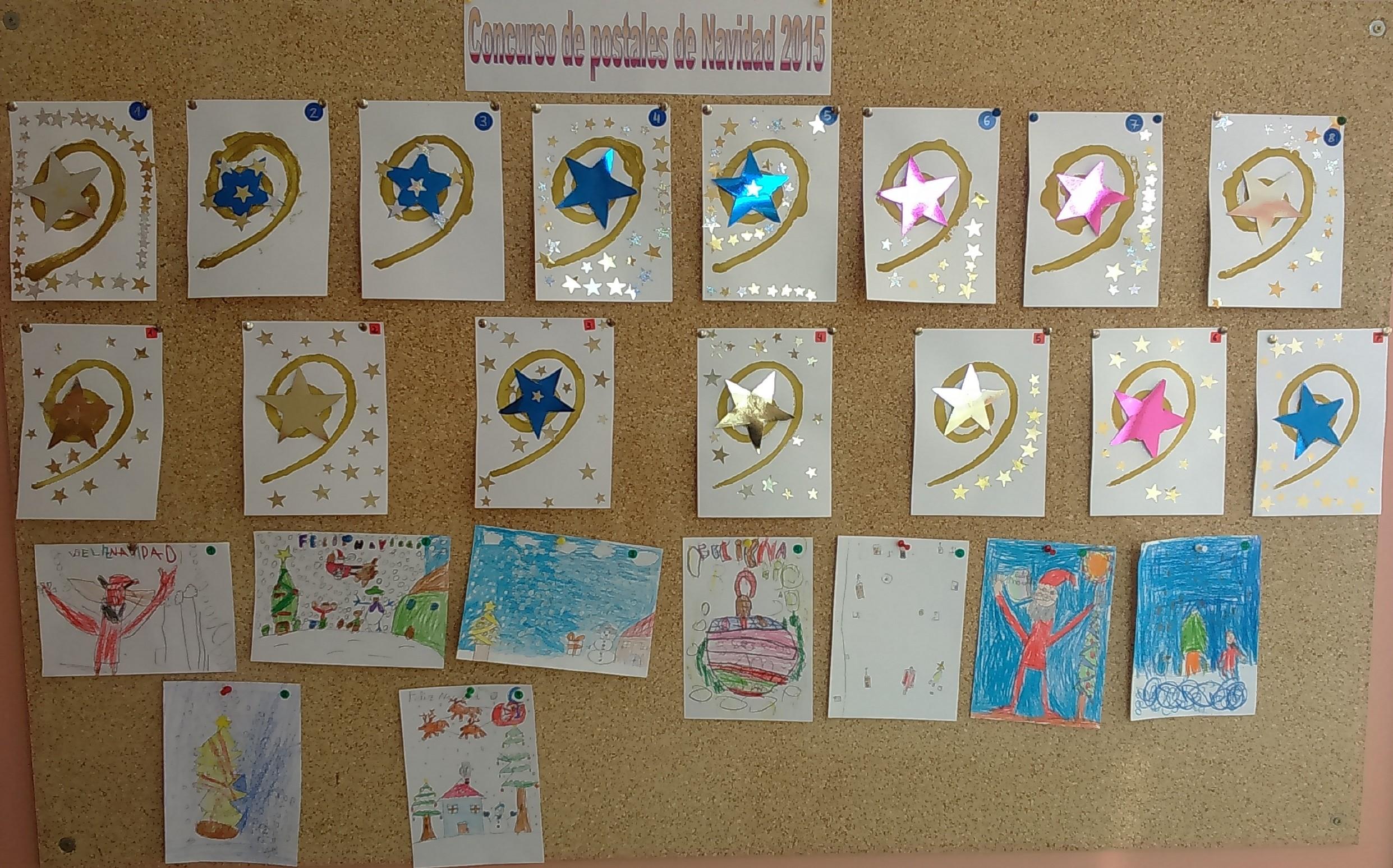 Concurso Postales de Navidad ´15Postales de Infantil, 1º y 2º