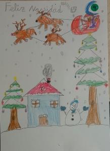 Concurso Postales de Navidad ´15Ganadora de 1º y 2º